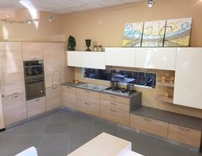 Cucina rovere chiaro moderna ad angolo Jessica Idema casa in Offerta Outlet