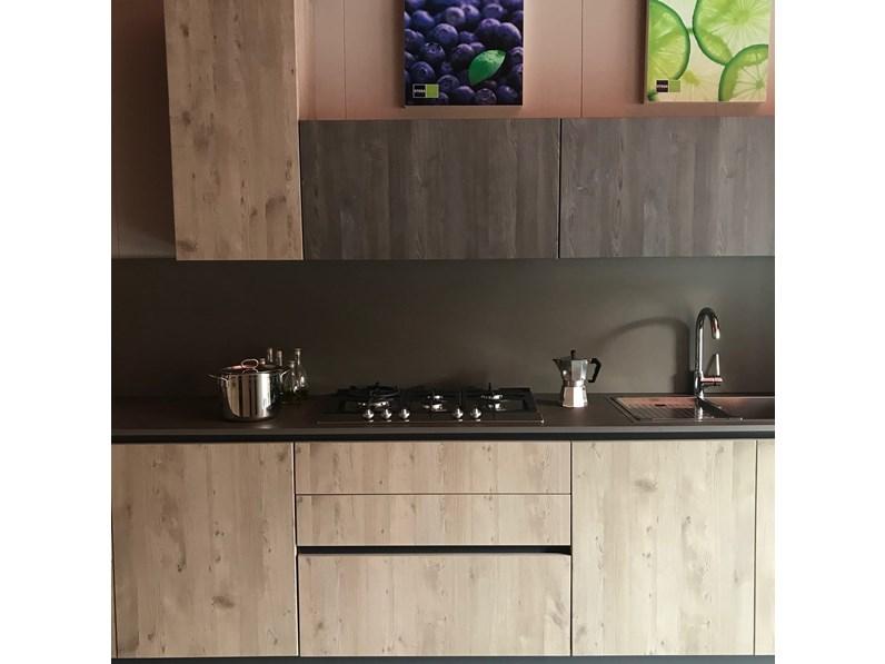 Cucina Rovere Chiaro Sistema 901 : Cucina rovere chiaro moderna ad angolo maya sabbia