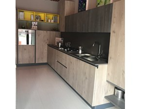 Cucina rovere chiaro moderna ad angolo Maya rovere sabbia- jeans Stosa cucine in Offerta Outlet