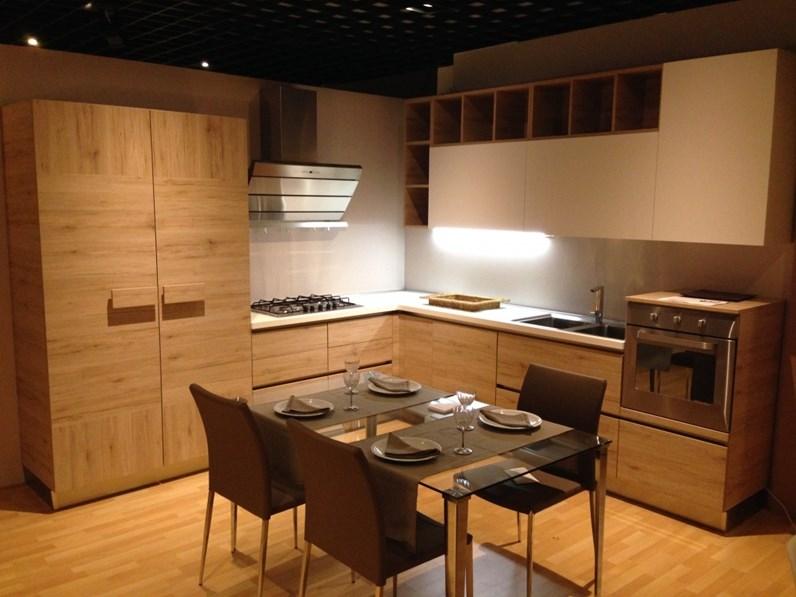Cucina rovere chiaro moderna ad angolo Oslo Gicinque cucine