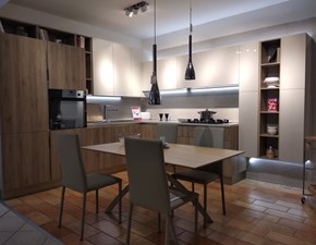 Cucina rovere chiaro moderna ad angolo Start time Veneta cucine in Offerta Outlet