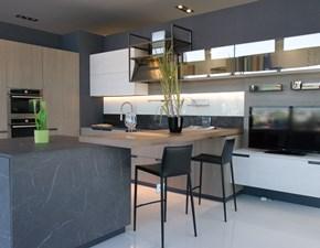 Cucina rovere chiaro moderna ad isola Mia Scavolini in Offerta Outlet