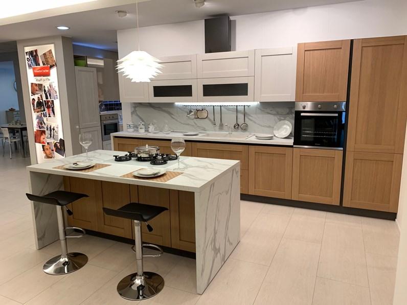 Cucina rovere chiaro moderna ad isola New river Mobilturi cucine in Offerta  Outlet