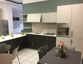Cucina rovere chiaro moderna con penisola As10 Antares in Offerta Outlet