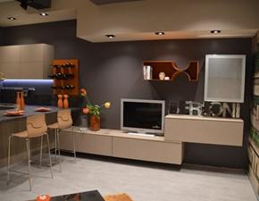 Cucina rovere chiaro moderna con penisola Brera Berloni cucine