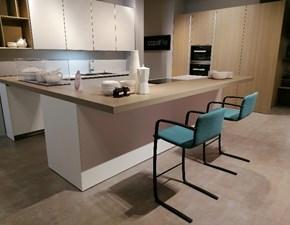 Cucina rovere chiaro moderna con penisola Copat a.654 21 tc73 Prezioso