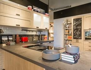 Cucina rovere chiaro moderna con penisola Expo city Stosa cucine in offerta