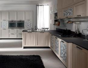 Cucina rovere chiaro moderna con penisola Fly Artigianale