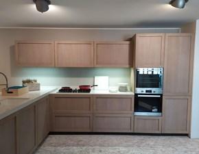 Cucina rovere chiaro moderna con penisola Legno vivo Gd arredamenti in Offerta Outlet