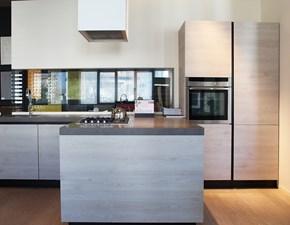 Cucina rovere chiaro moderna con penisola Rho Armony cucine in Offerta Outlet