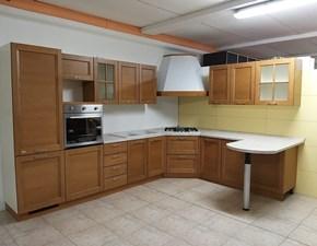 Cucina rovere chiaro moderna con penisola Tabia Maistri cucine in Offerta Outlet