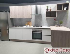 Cucina rovere chiaro moderna con penisola Vogue Artigianmobili in offerta