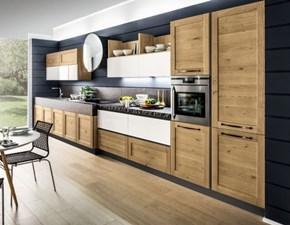 Cucina rovere chiaro moderna lineare Componibile Arrex in offerta