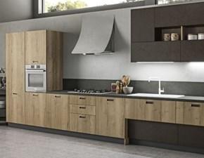 Cucina rovere chiaro moderna lineare Componibile Arrex
