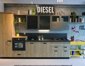 Cucina rovere chiaro moderna lineare Diesel Scavolini in offerta