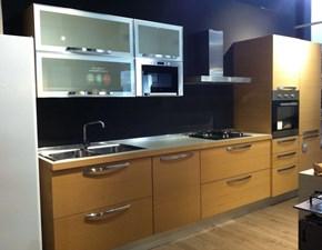 Cucina rovere chiaro moderna lineare Extra rovere naturale a doghe  Veneta cucine in Offerta Outlet