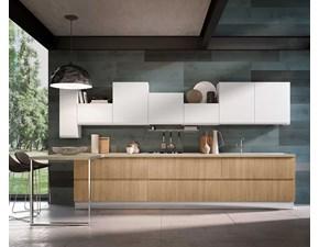 Cucina rovere chiaro moderna lineare Modello time basic Mobilificio bellutti in Offerta Outlet