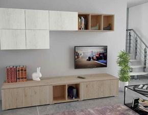Cucina rovere chiaro moderna lineare Pratika living Aerre cucine in Offerta Outlet