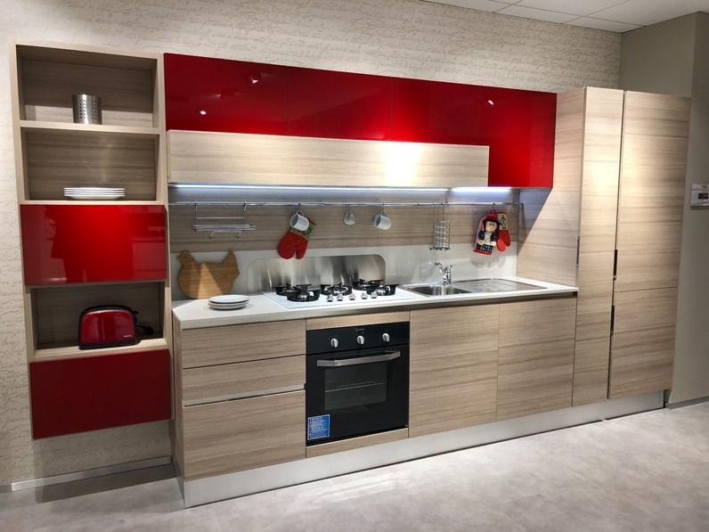 Cucina rovere chiaro moderna lineare Start time go new Veneta cucine ...