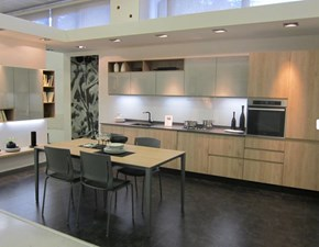 Cucina rovere chiaro moderna lineare Vera Mobilegno in Offerta Outlet