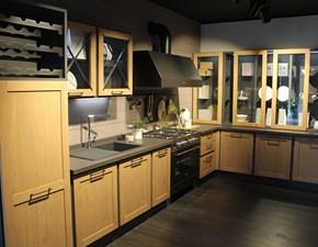 Cucina rovere chiaro provenzale ad angolo Provenza linea borgo antico, gruppo lube  Artigianale in Offerta Outlet