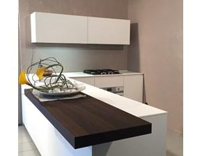 Cucina rovere moro moderna ad angolo Ak4/  fenix Arrital cucine in Offerta Outlet