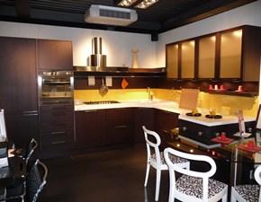 Cucina rovere moro moderna ad angolo Forma Snaidero in Offerta Outlet
