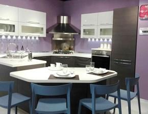 Cucina rovere moro moderna ad angolo Veneta cucine mod. carrera con maniglia Veneta cucine