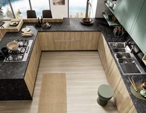 Cucina rovere moro moderna con penisola Cucina con finiture legno Colombini casa