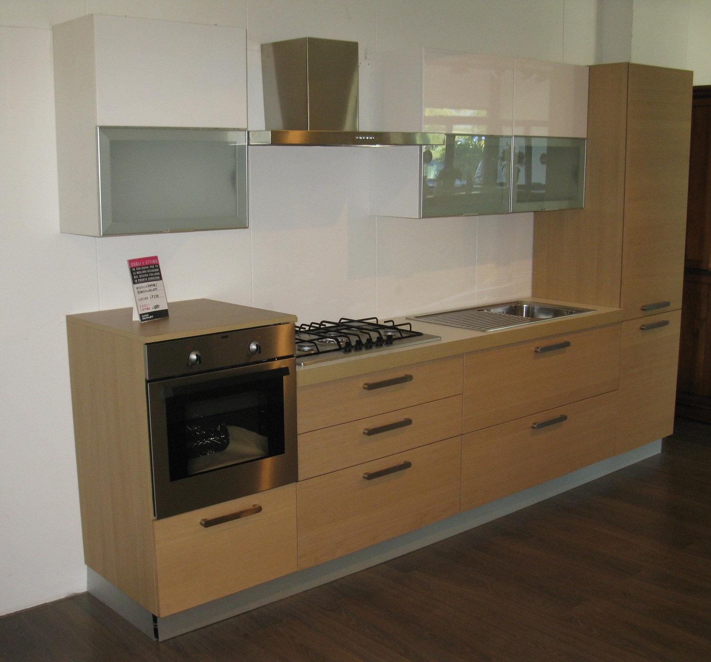 cucina rovere naturale laccata - cucine a prezzi scontati - Cucina Rovere Naturale