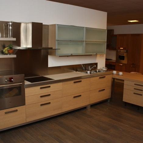 Cucina rovere naturale/vetro - Cucine a prezzi scontati