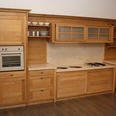 cucina rovere naturale - cucine a prezzi scontati - Cucina Rovere Naturale