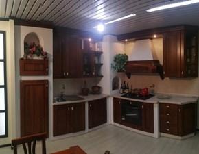 Cucina Rustica in muratura noce ad angolo Arrex-3