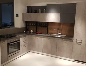 Cucina Sax moderna grigio ad angolo Scavolini