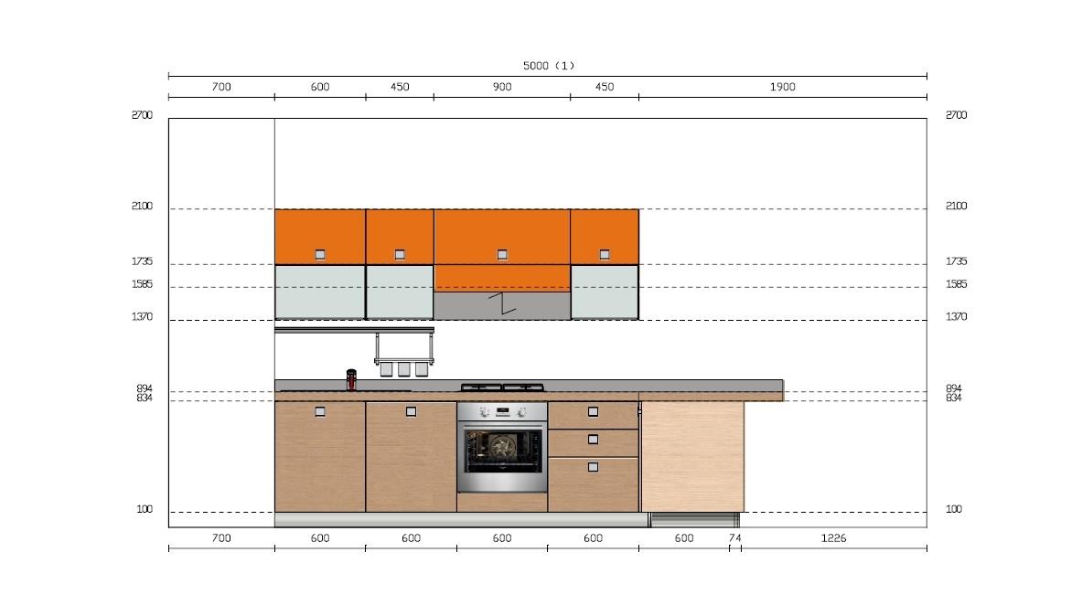 Cucine Scavolini Da Esposizione : Cucina scavolini modello sax in offerta cucine a prezzi