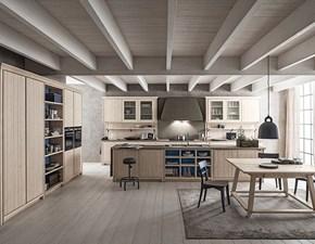 Cucina Scandola design ad isola rovere chiaro in legno Maestrale