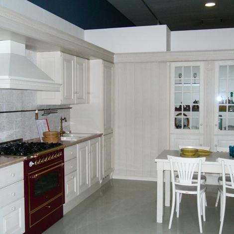 Cucina scavolini baltimora classico legno bianca scontata - Cucina bianca legno ...