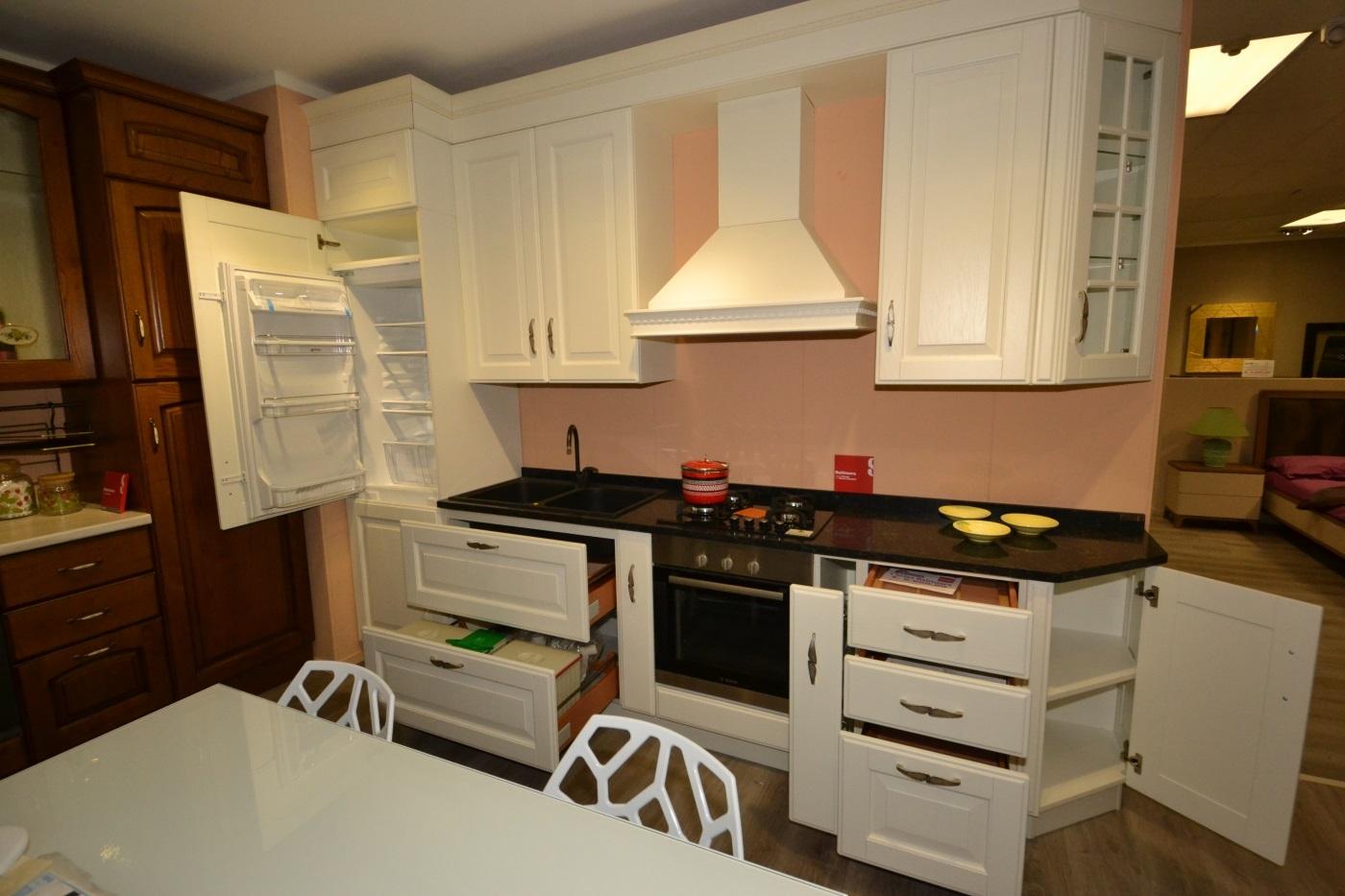 Cucina scavolini baltimora in rovere bianco cucine a prezzi scontati - Cucine 3 metri scavolini ...