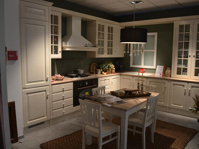 Cucina Scavolini Baltimora frassino bianco scontato del -64 ...