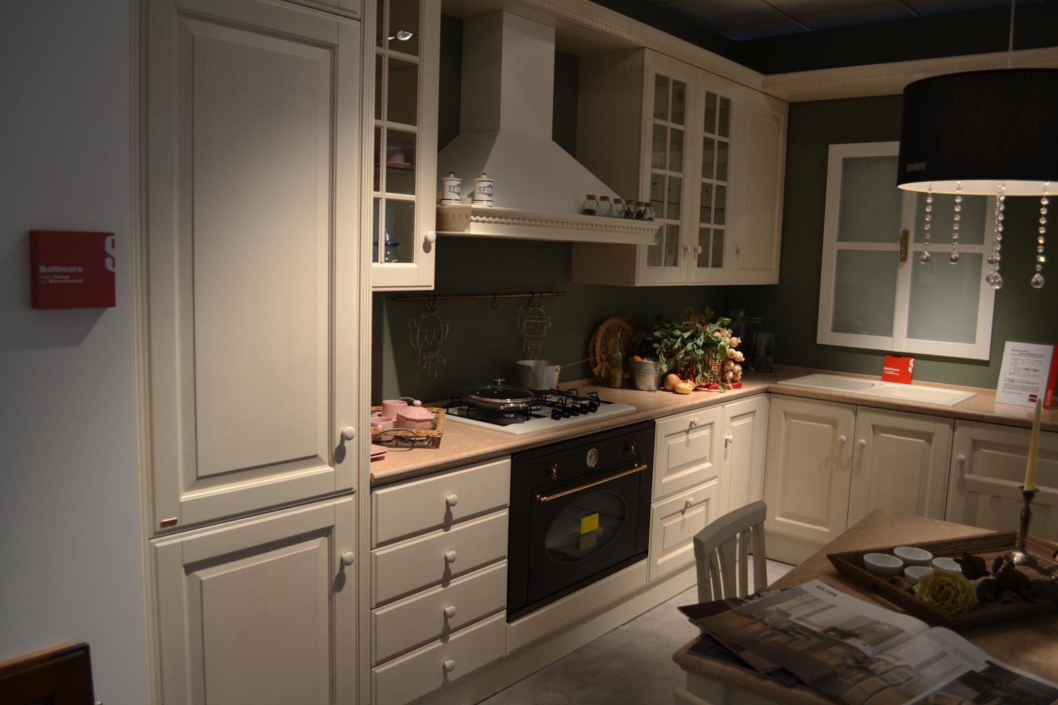 Cucine Scavolini Baltimora Prezzi : Cucina scavolini baltimora frassino bianco scontato del