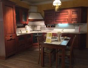 Cucina Scavolini classica ad angolo noce in legno Amelie