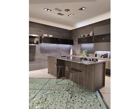 Cucina Scavolini design ad isola grigio in laminato materico Delinea