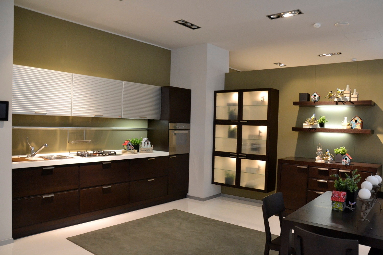 Cucina scavolini glam rovere cucine a prezzi scontati for Cucina e salone insieme