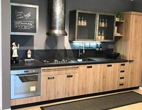 Cucina Scavolini industriale lineare altri colori in laminato materico Diesel