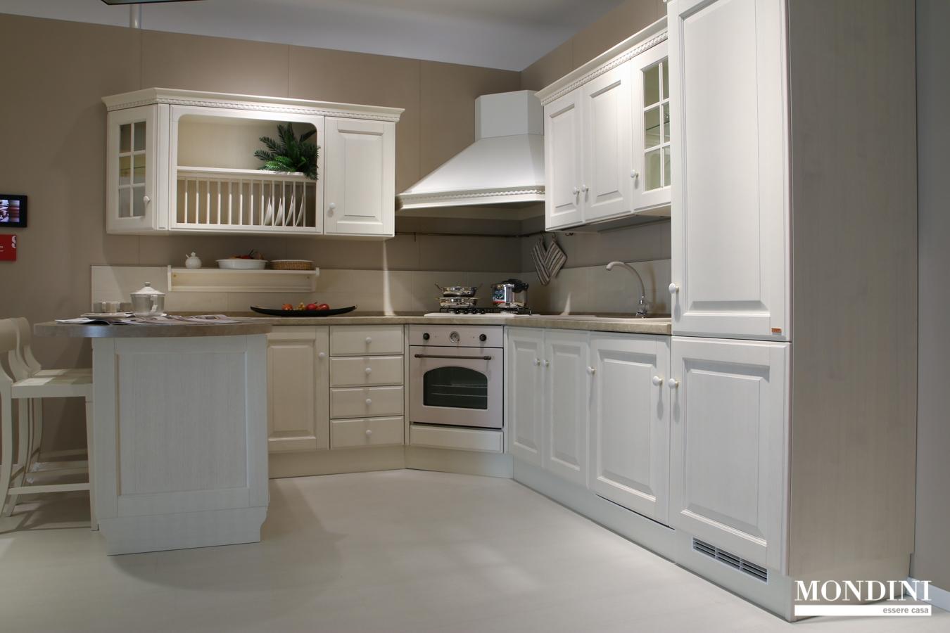 Cucina con penisola Scavolini modello Baltimora scontata ...