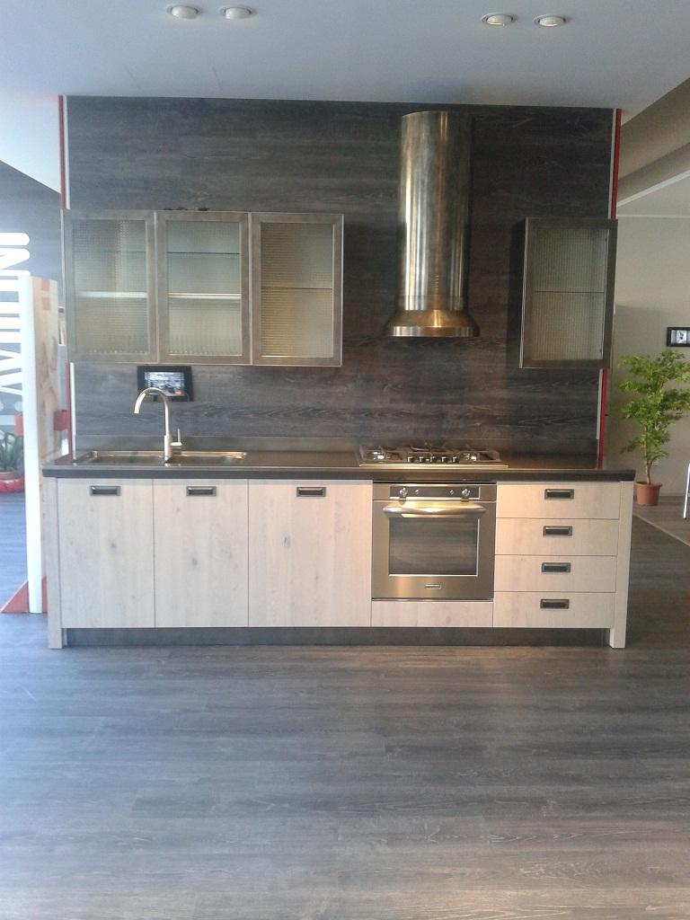 Cucina scavolini modello diesel dritta top metal drip - Cucine scavolini diesel ...