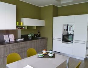 Cucina Scavolini moderna lineare bianca in laminato materico Mood