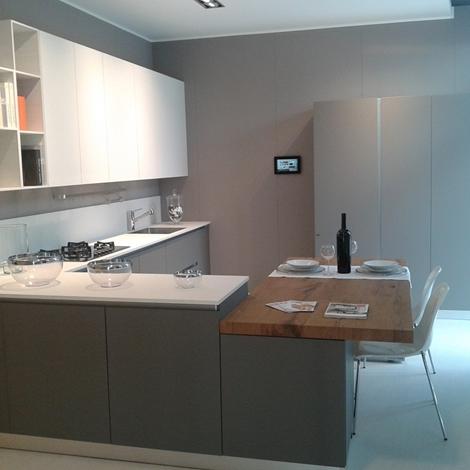 Cucina scavolini nuova prezzo outlet esposta in negozio in fenix grigio scuro e bianca cucine - Cucina scavolini prezzo ...