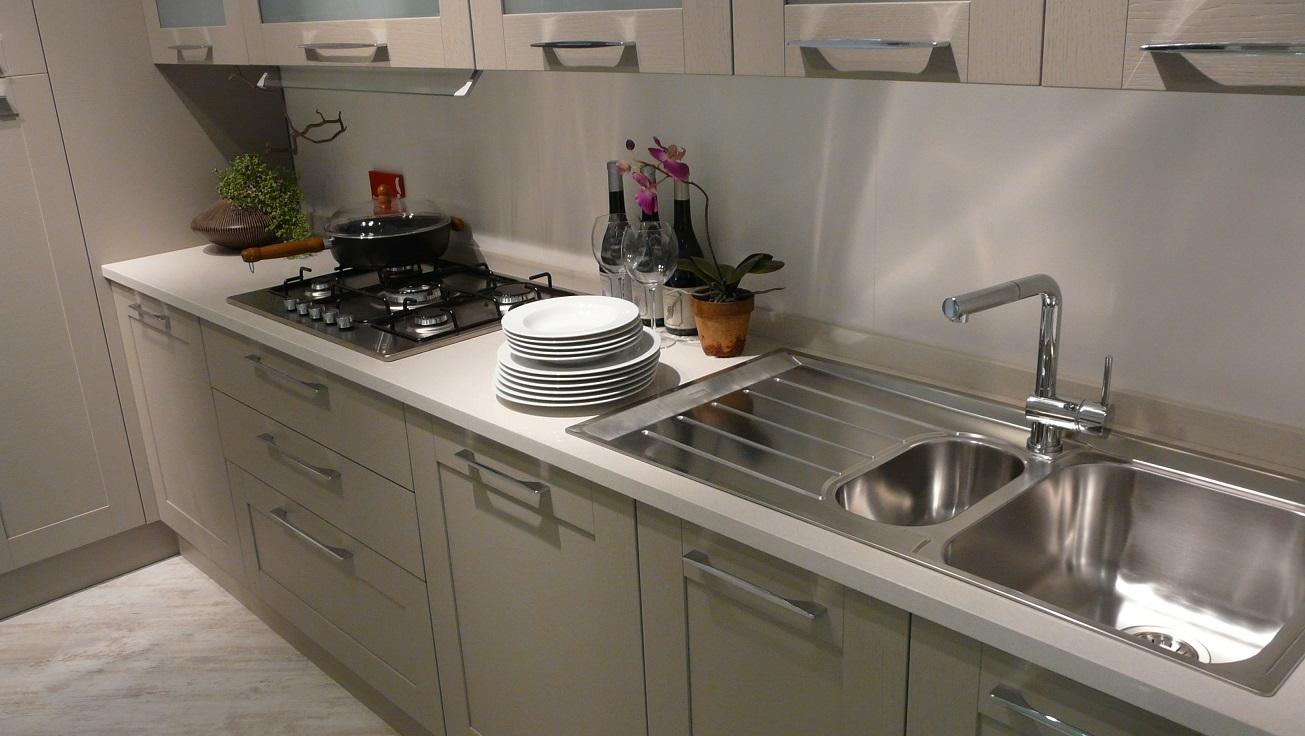 Cucina scavolini open moderna legno tortora cucine a - Cucina scavolini open prezzi ...