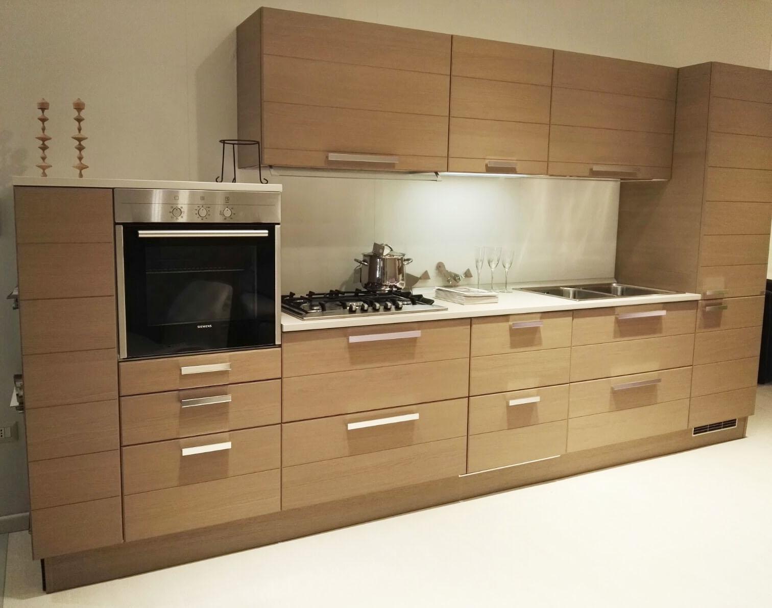Cucina scavolini open moderna legno cucine a prezzi scontati for Cucina living